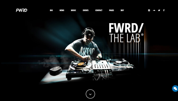 FWRD - Felxible Music and DJ WordPress Theme