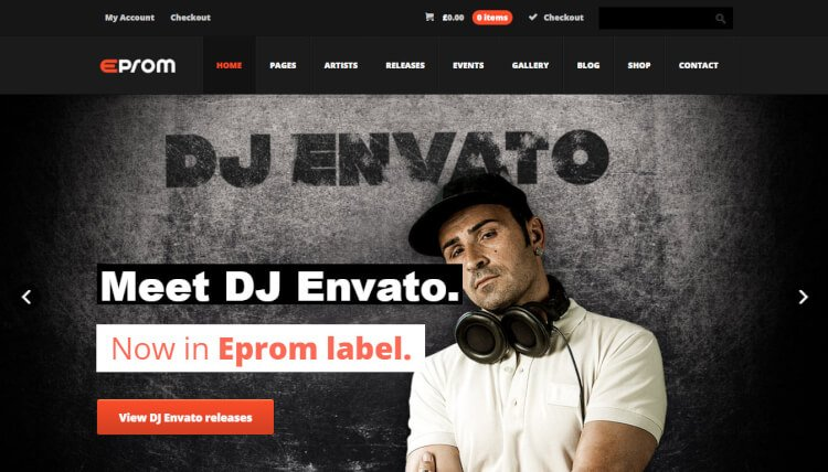 Eprom - DJ and Band WordPress Theme