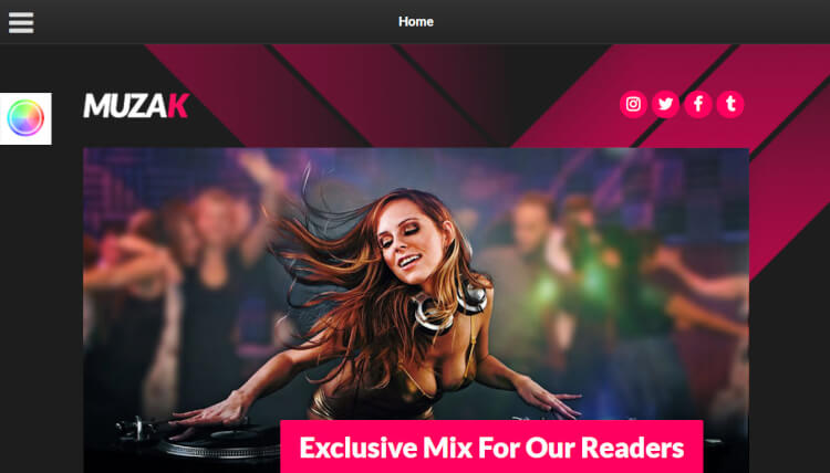 Muzak - Music and DJ WordPress Theme
