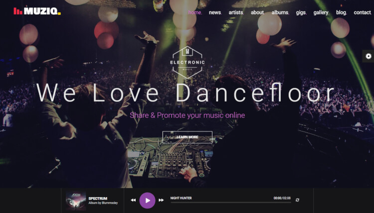 Muziq - DJ and Musician WordPress Theme