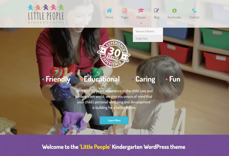 Little People - Kindergarten WordPress Theme