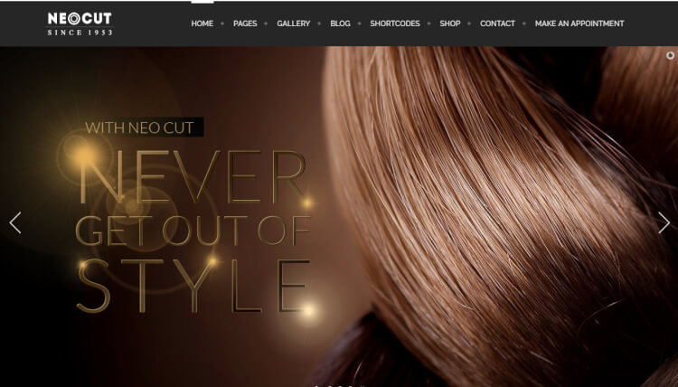 Neo Cut - Hair Salon WordPress Theme