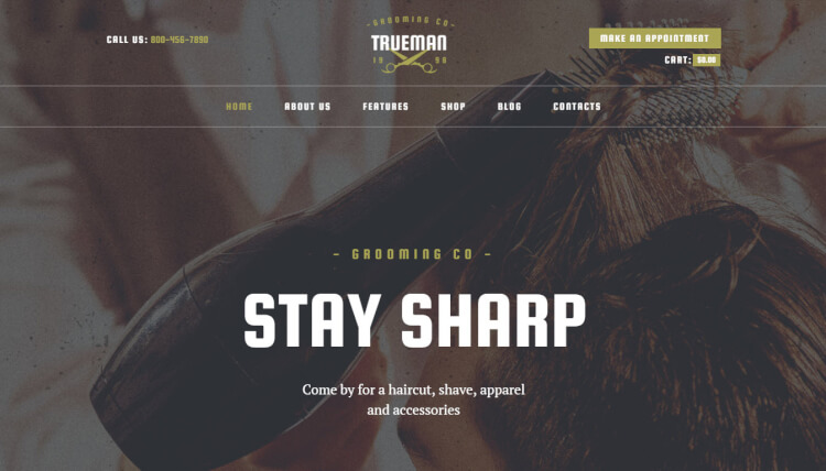 Trueman - Barbershop and Hair Salon WordPress Theme