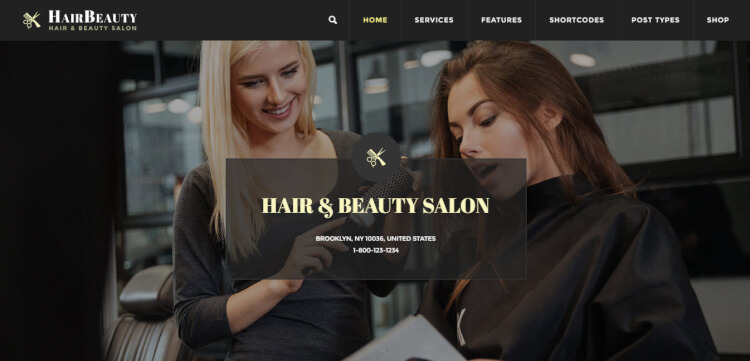 Hair Beauty - Hairdresser WordPress Theme