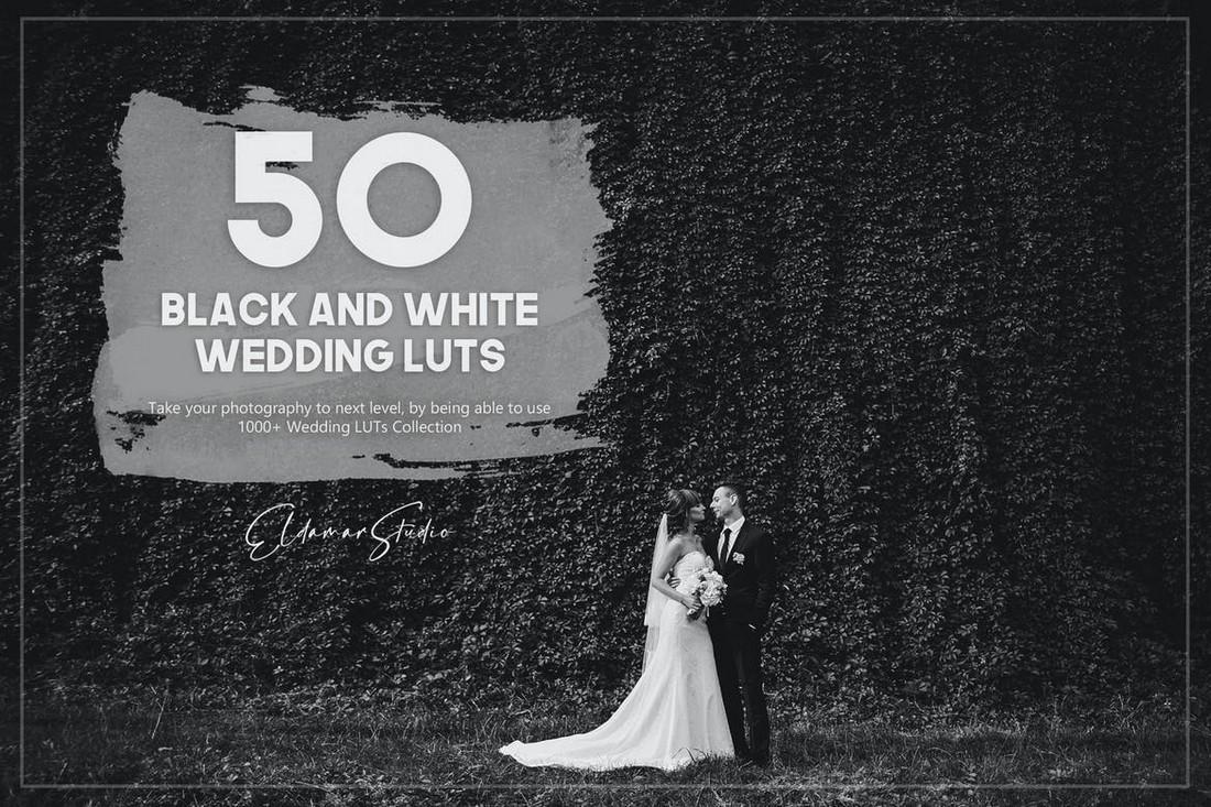 50 Paket LUT Pernikahan Hitam Putih