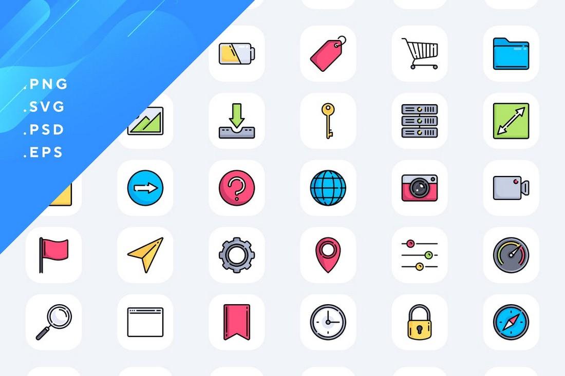 50 Custom iOS Icons Pack