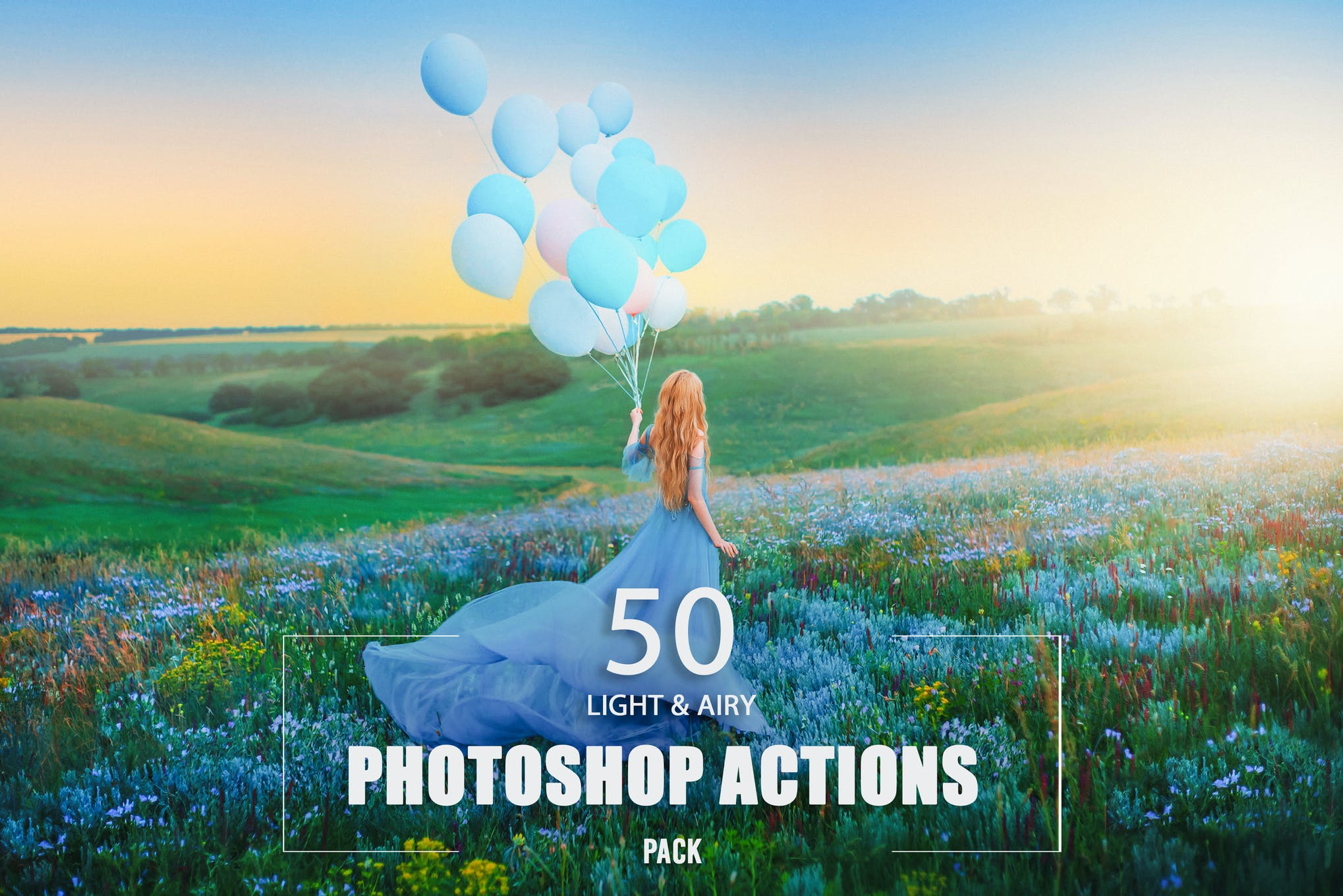 50 Light & Airy Photoshop Actions