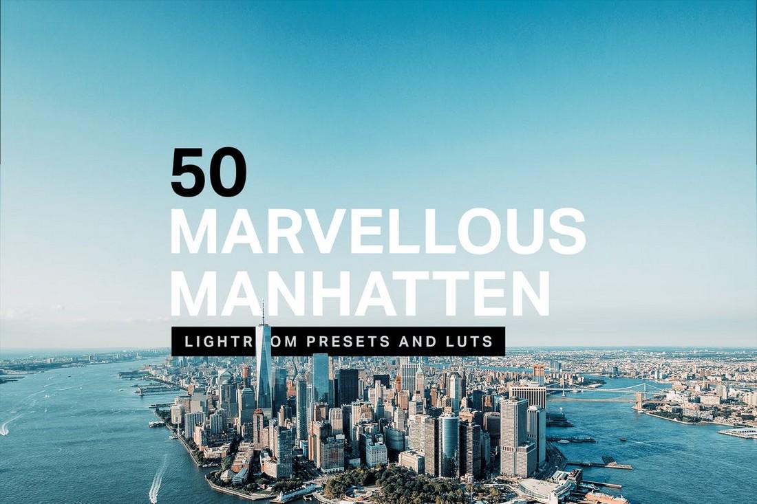50 Preset & LUT Lightroom Manhattan
