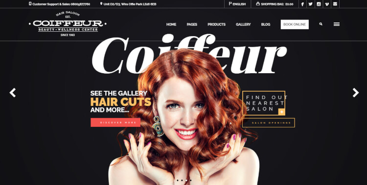 Coiffeur - Hair Salon WordPress Theme