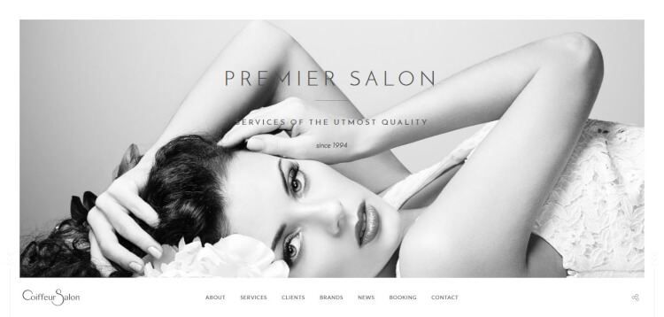 Salon - Full-screen Hair Salon WordPress Theme