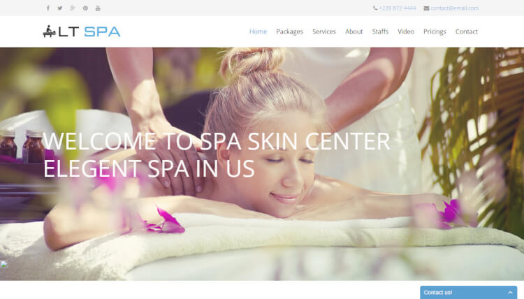 LT Spa - Hair Salon Wordpress Theme