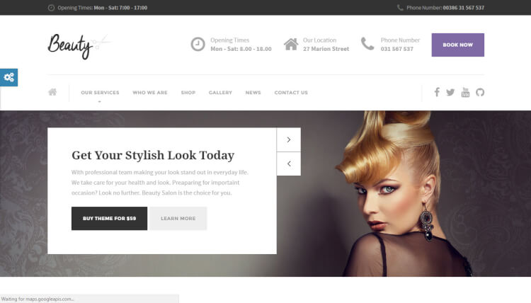 Beauty - Hair Salon and Nail, Spa WordPress Theme