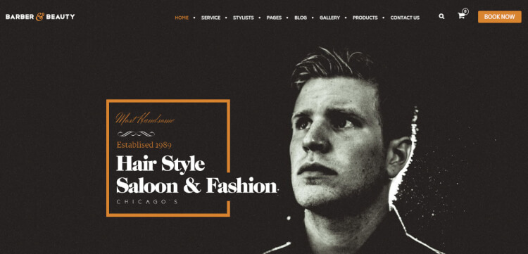 HairLoom - Barbers and Hair Salon WordPress Theme