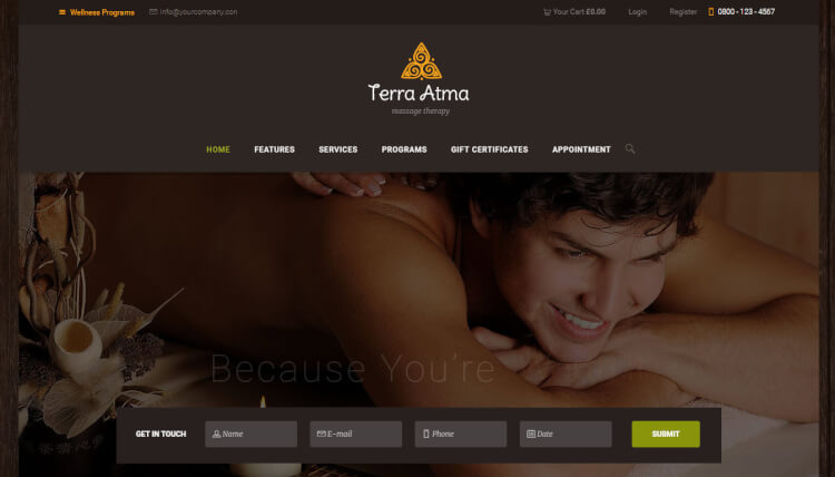 Terra Atma - Spa and Hair Salon WordPress Theme