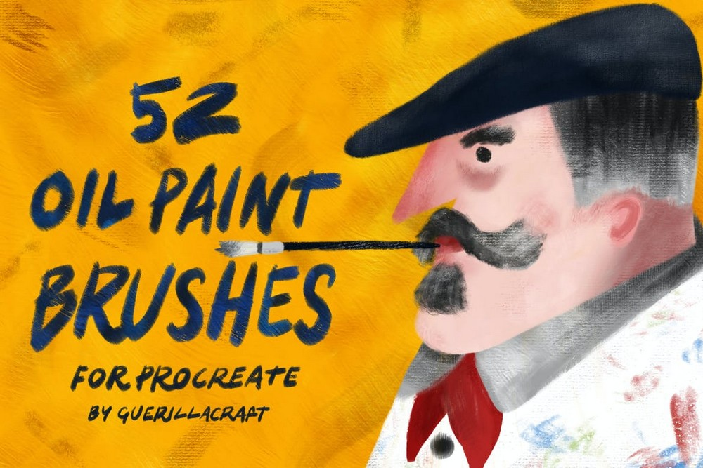 52 Oil Paint Brushes for Procreate