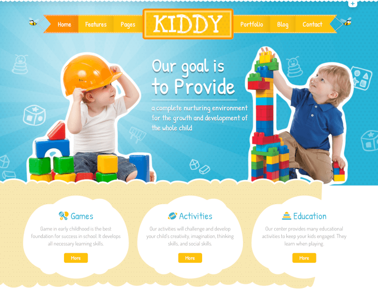 Kiddy - Children WordPress Theme