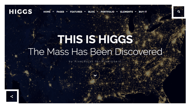 Higgs - Dark Multi-Purpose WordPress Theme