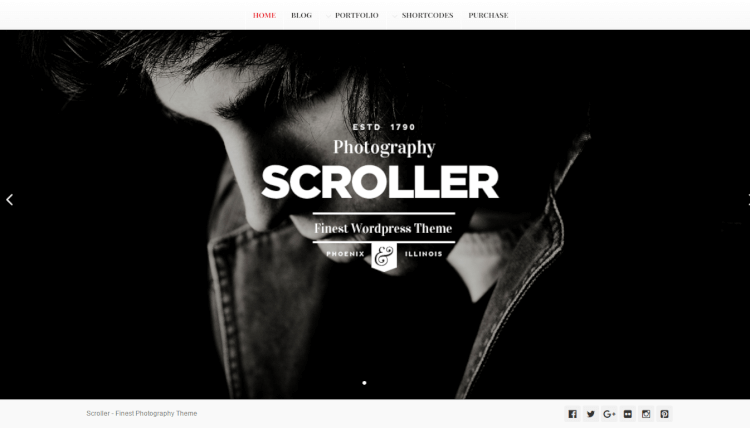 Scroller - Parallax Dark WordPress Theme