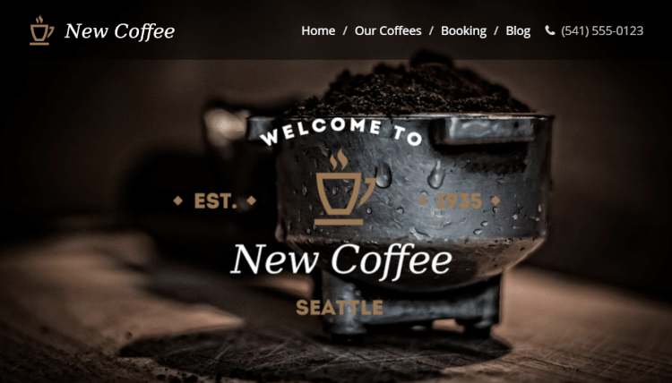 New Coffee - Responsive Dark WordPress Theme