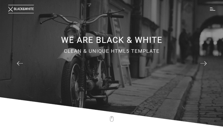 Black and White - Creative Multipurpose WordPress Theme