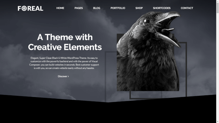 Foreal - Black and White WordPress Theme