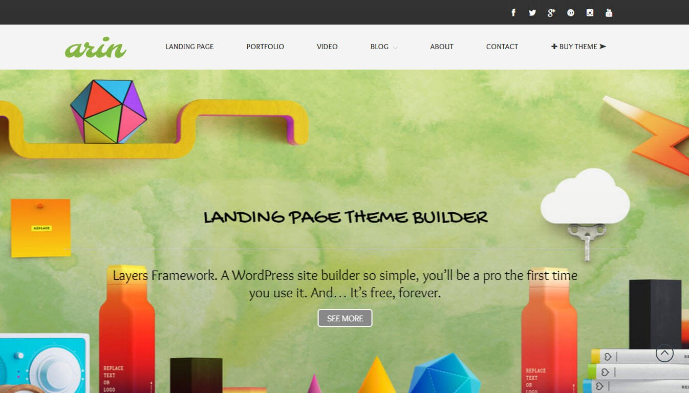 Arin - Landing Page Builder WordPress Theme