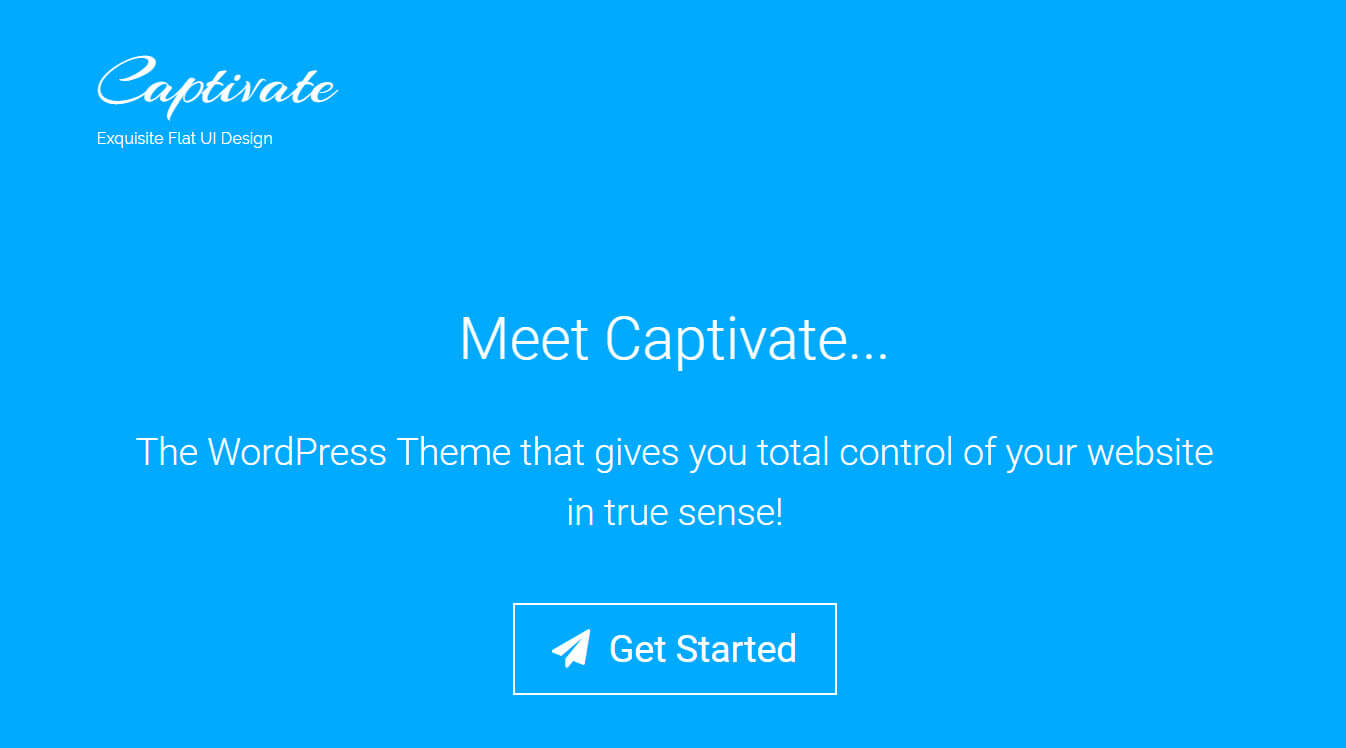 Captivate - Landing Page WordPress Theme