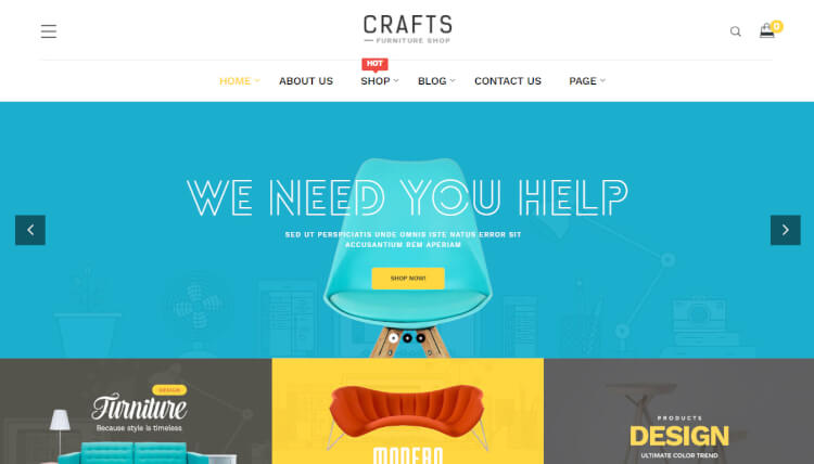 Craft - Creative Slideshow WordPress Theme