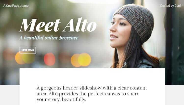 Alto - Minimal Slideshow WordPress Theme