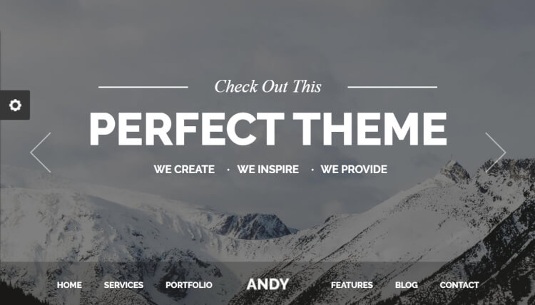 Andy - Minimal Slideshow WordPress Theme