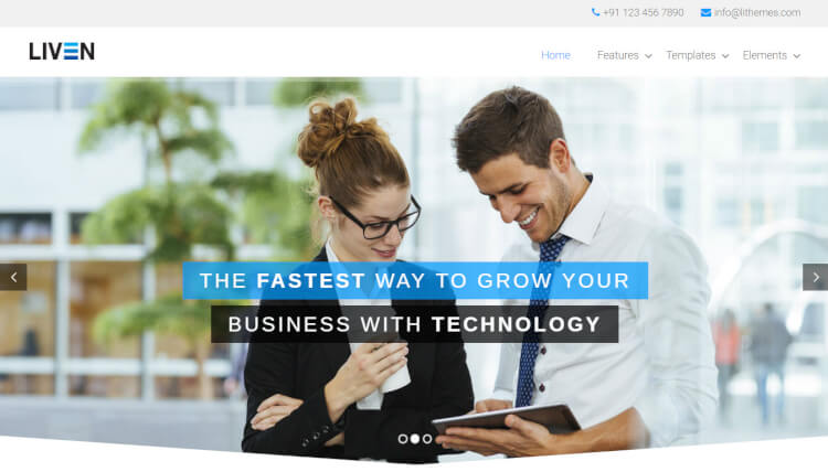 Liven - Business Slideshow WordPress Theme