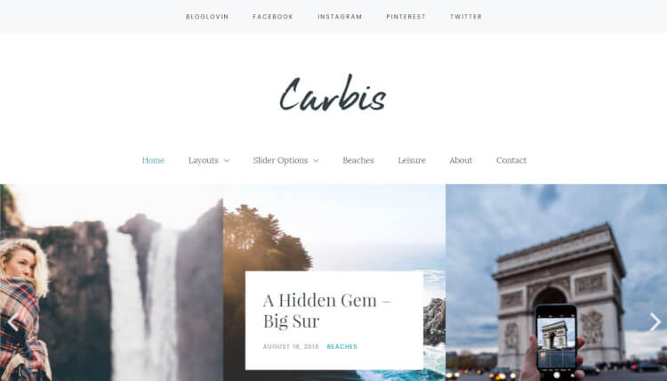 Carbis - Slideshow WordPress Blog Theme