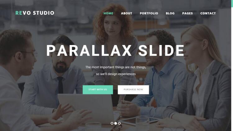 Revo Studio - Slideshow WordPress Theme