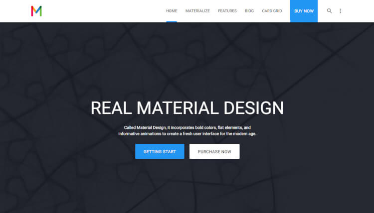 Materialize - Multi-Purpose Material Design WordPress Theme