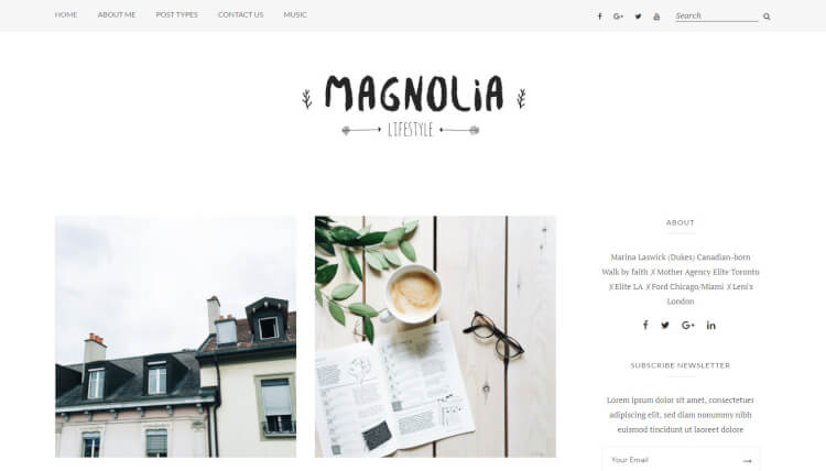Magnolia - Elegant WordPress Theme