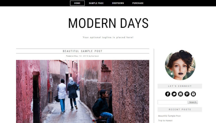 Modern Days - Blogging WordPress Theme