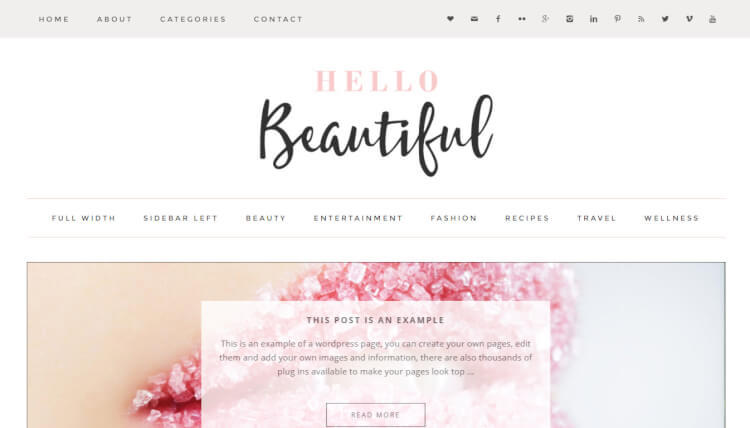 Beautiful - Stylish WordPress Theme