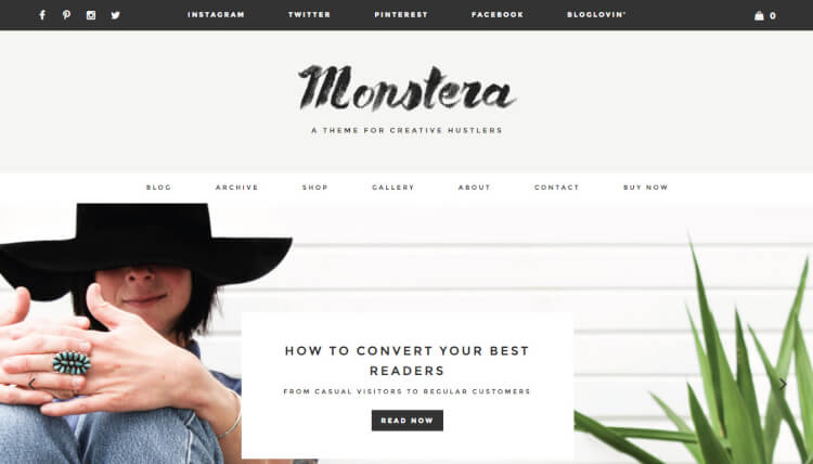 Monstera - Creative WordPress Theme