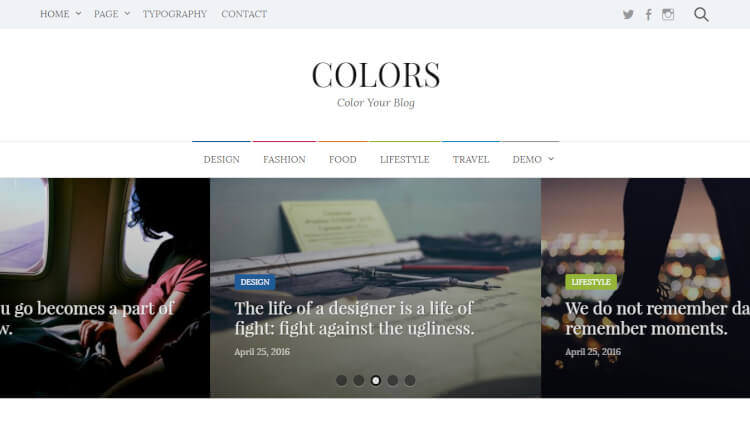 Colors - Flexible WordPress Theme