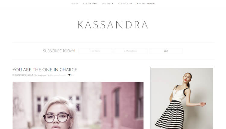Kassandra - Minimal WordPress Theme