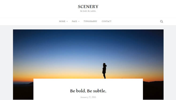 Scenery - Beginner-Friendly WordPress Theme