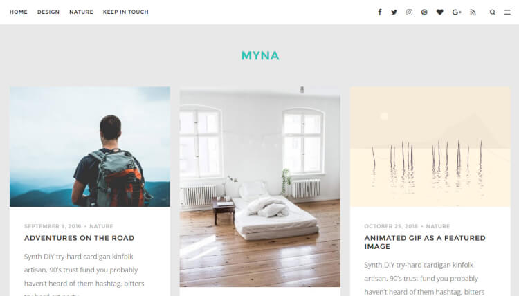 Myna - Intuitive WordPress Theme
