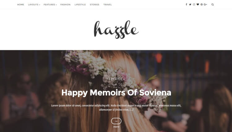 Hazzle - Blogging WordPress Theme