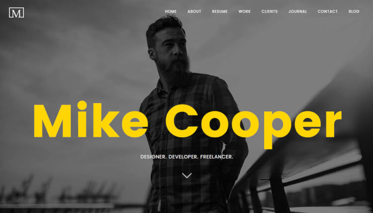 Mini - Personal Portfolio WordPress Theme