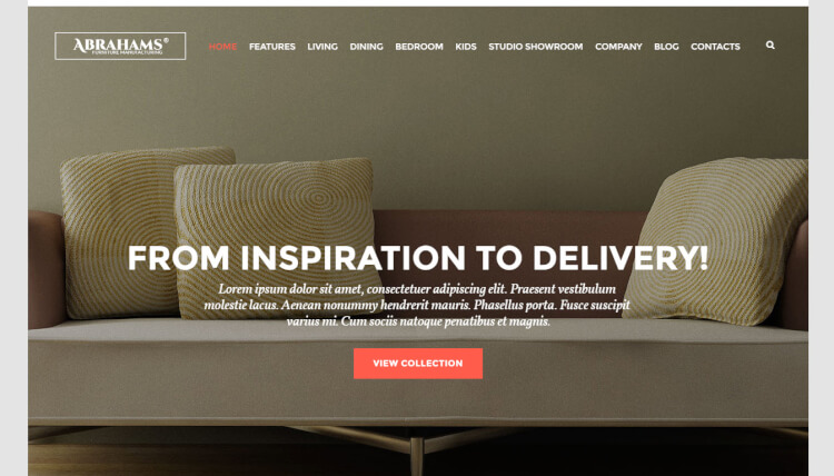 Furniture Store & Interior Design - WordPress Theme