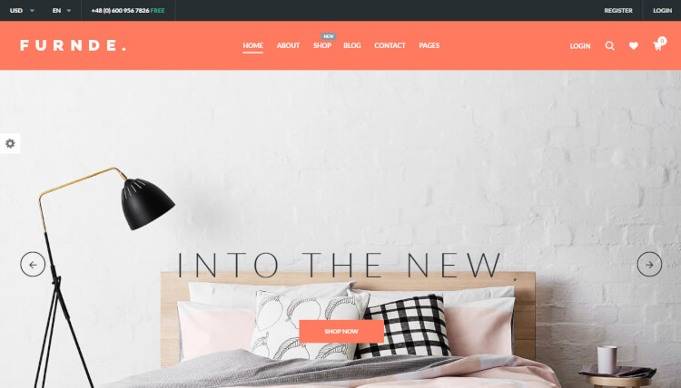 Furnde - Furniture Store WordPress Theme