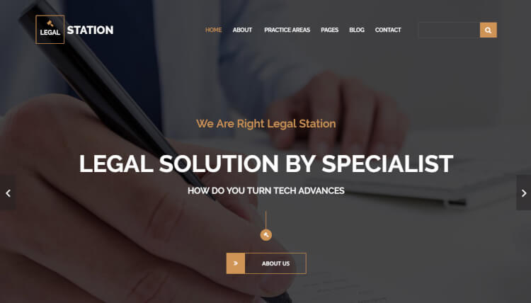 Legal Station - Legal Business & Corporate WordPress Theme