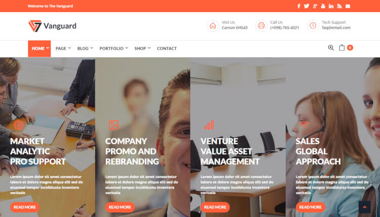 The Vanguard - Business & Corporate WordPress Theme