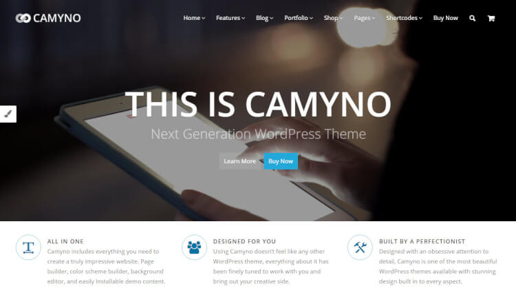 Camyno - Business & Corporate WordPress Theme
