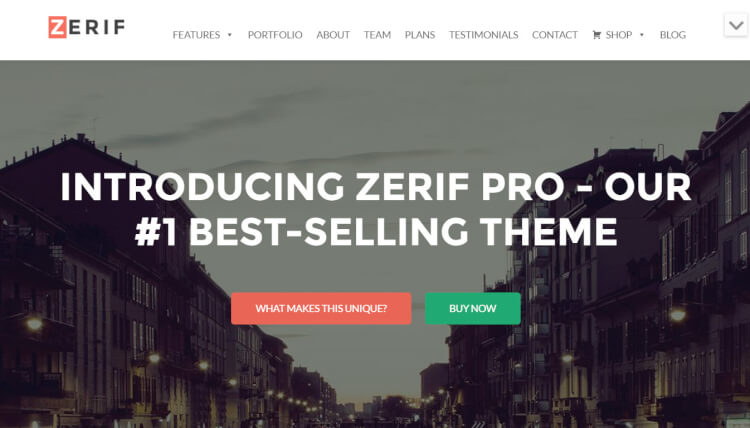 ZerifPro - One-Page Corporate & Business WordPress Theme